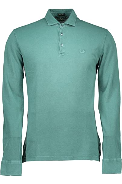 Fred Perry Polo Manga Larga para Hombre Verde Verde M: Amazon.es ...