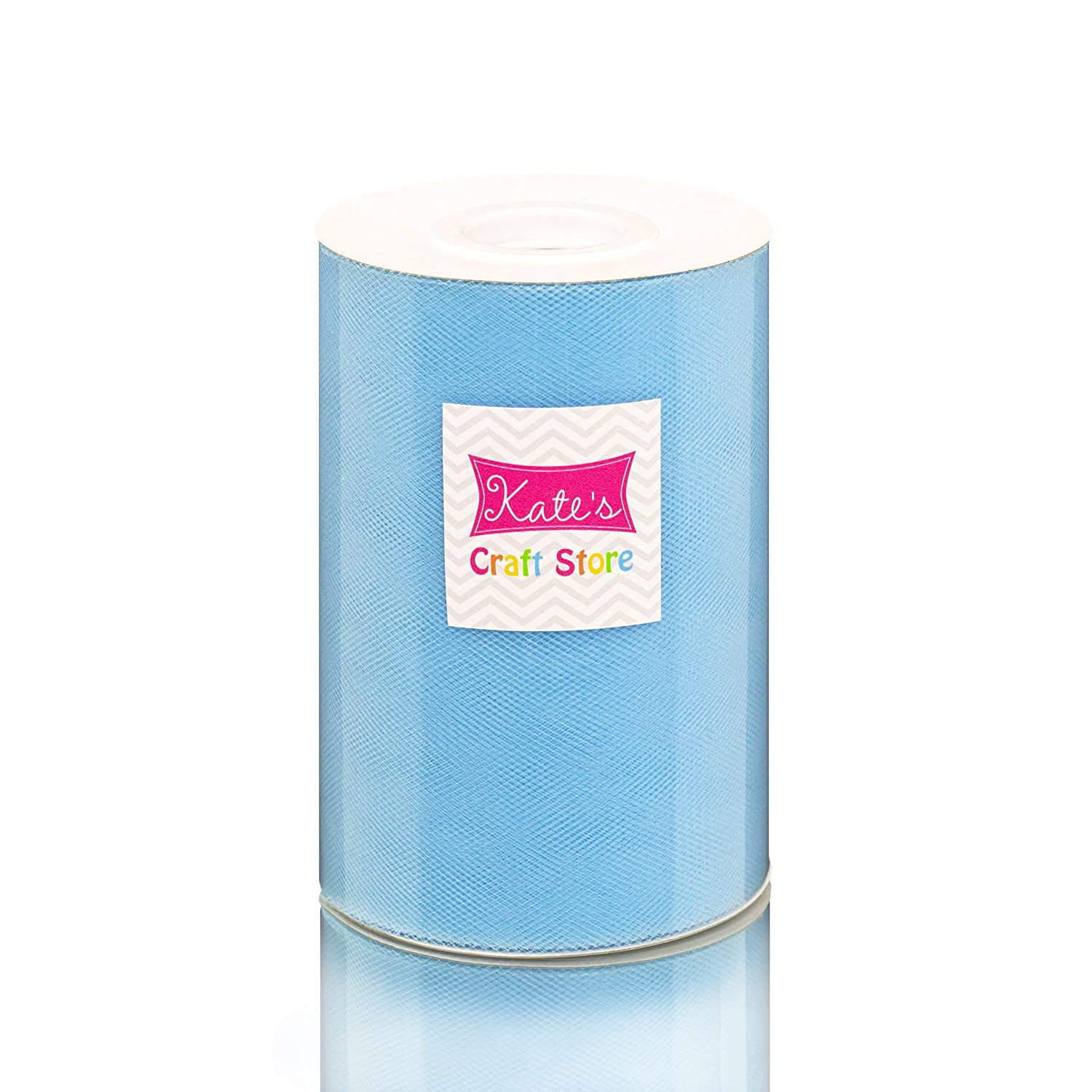 Kate's Craft Store. LIGHT BLUE Tulle 6in x 300ft (100 yards) roll. by Kate's Craft Store   B00YBE9JUI