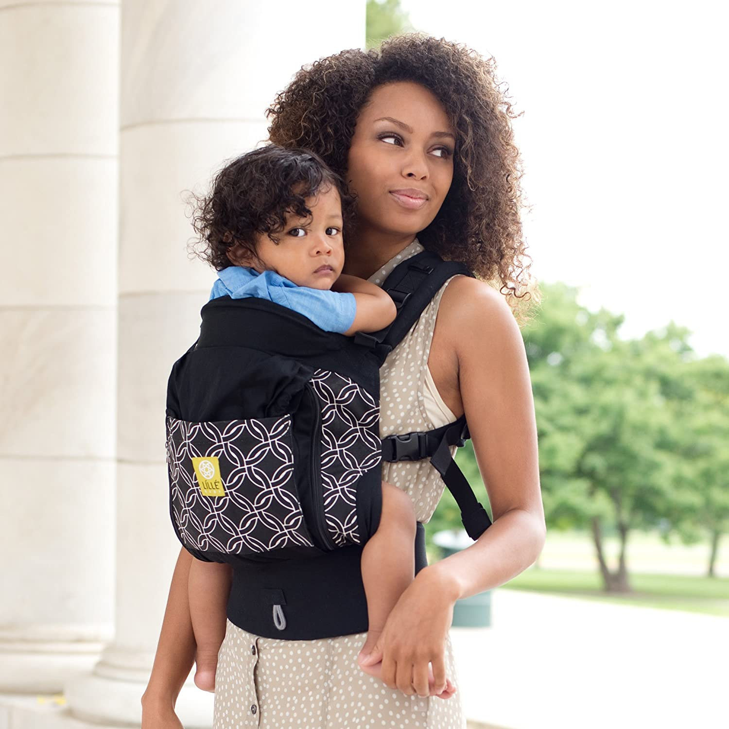 f7a9f94c26d Amazon.com   LILLEbaby 4 in 1 ESSENTIALS All Seasons Baby Carrier - Black  w Circle of Love   Baby