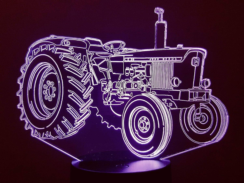 Lampe 3D Motif: tracteur John Deere