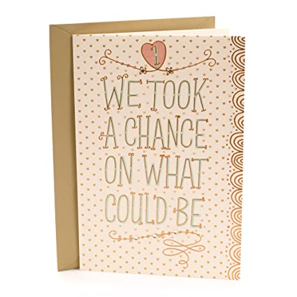 Amazon hallmark 1st anniversary greeting card chance on what hallmark 1st anniversary greeting card chance on what could be m4hsunfo