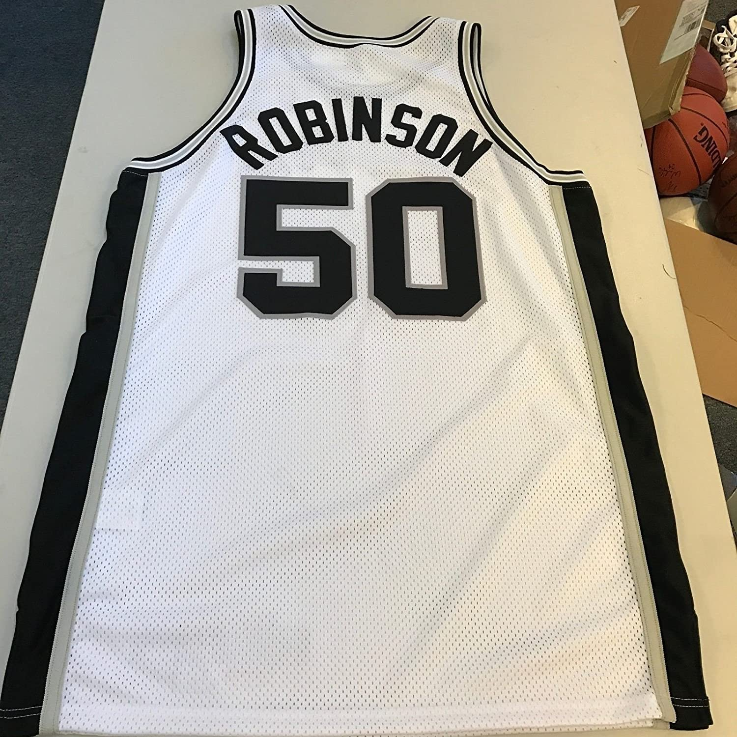 1998-99 David Robinson NBA Finals Game Used San Antonio Spurs Jersey at  Amazon s Sports Collectibles Store 246286d40