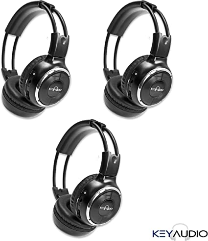 4 Two Channel Folding Adjustable Infrared Headphone for in Car Rear Entertainment Systems Pack of 4