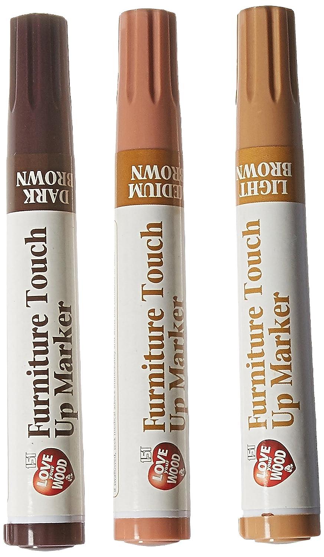 Light Dark Medium Brown Furniture /& Wood Scratch Repair Permanent Marker Pens