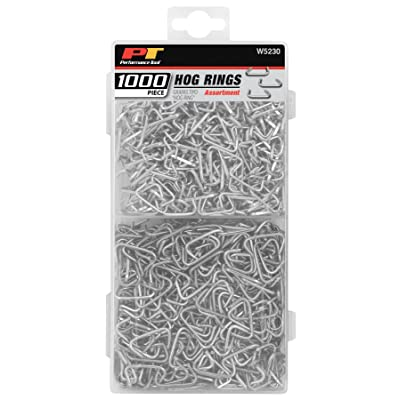 Performance Tool W5230 1,000pc Steel Hog Ring for: Upholstery, fencing, craft, rope, bungee cords, bag closures, crab pots, furniture and much more: Automotive