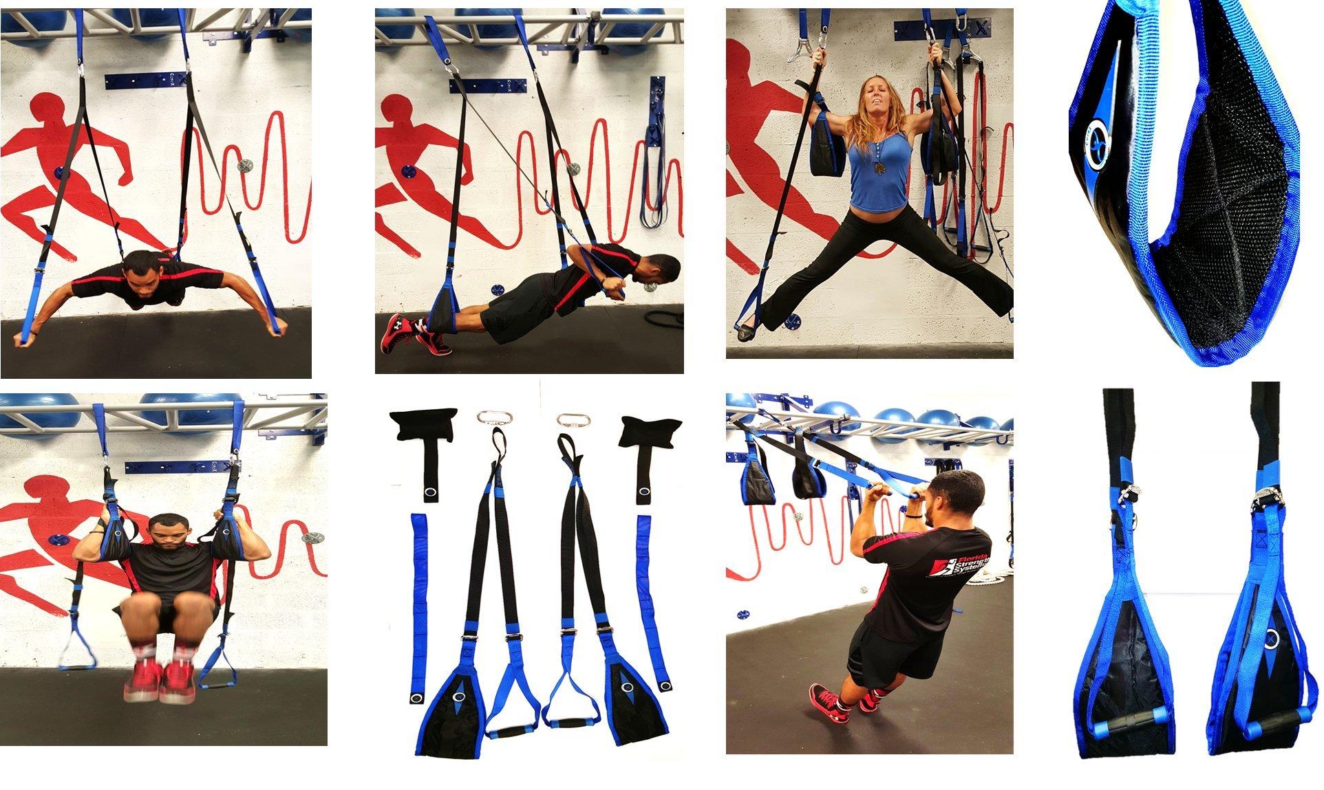 CoreX Suspended Trainer - Fully Suspended Training, Ab Strap, Suspension Strap Training, Pilates, Yoga Inversion, Yoga Swing