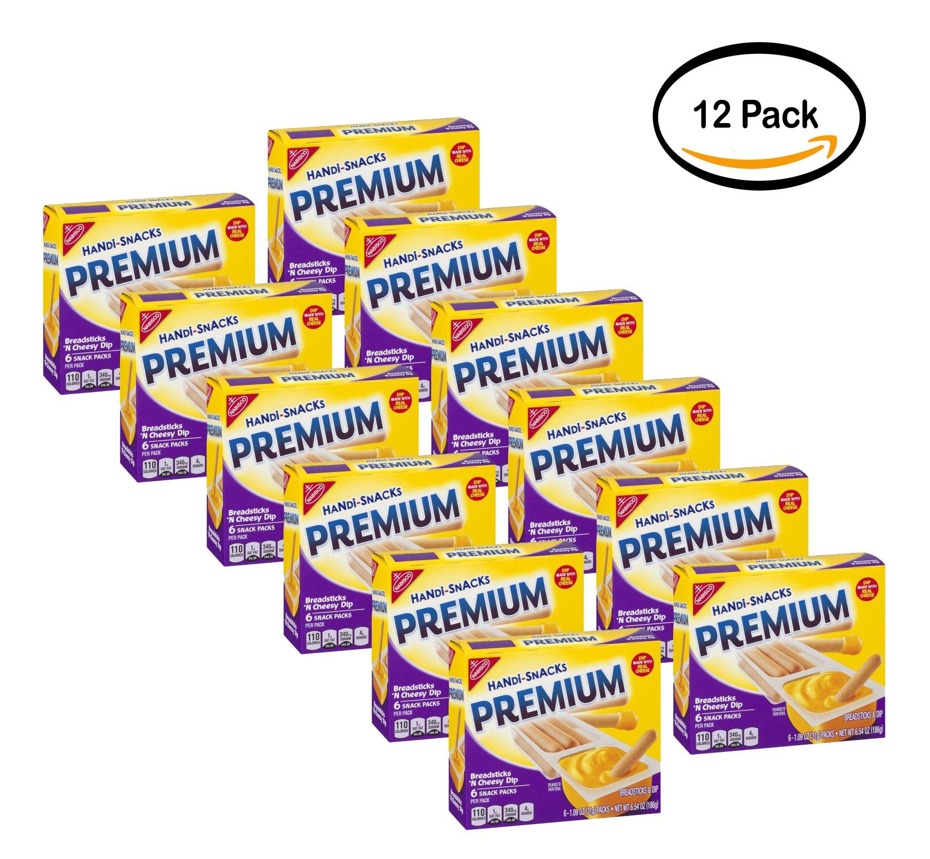 PACK OF 12 - Nabisco Handi-Snacks Premium Snack Packs Breadsticks 'N Cheesy Dip - 6 CT