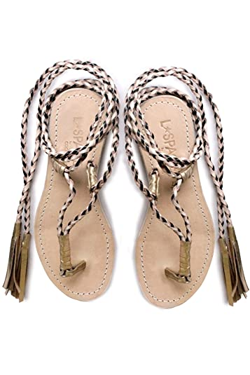 e745afd8d Image Unavailable. Image not available for. Color  Cocobelle by Cocobelle  Women s Gili Wrap Sandals ...