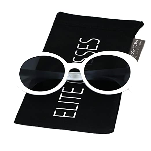 adce9dc43a82 Amazon.com: Clout Goggles Oval Sunglasses Mod Style Retro Thick ...