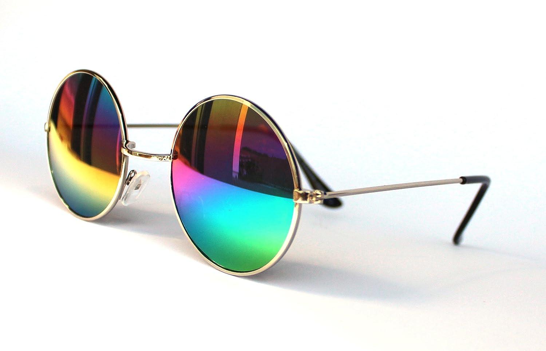 Brille Rainbow Sonnenbrille bunt 80er 90er Jahre Mottoparty Neon-Party Fasching AuyiLBRp