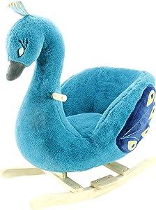 Animal Adventure Soft Landing   Joyrides   Peacock   Character Rocker
