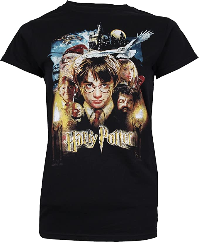 HARRY POTTER Harry Potter /& Friends T-Shirt Donna ICONIC COLLECTION