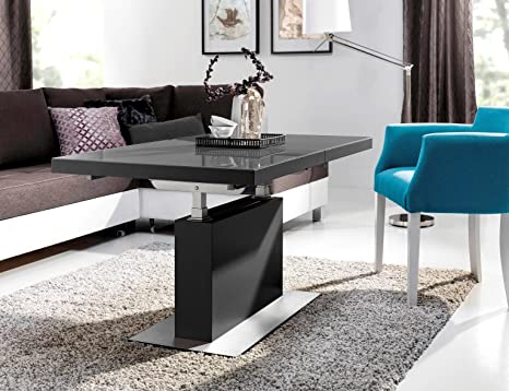 Tavoli Da Salotto Allungabili : Tavolino da salotto 3 mn grigio seta grigio opaco vetro altezza