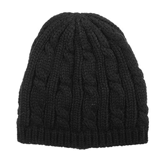 ISOTONER Women s Cable Knit Cold Weather Beanie Hat with Warm Fleece  Lining 501687aad