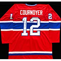 $119 » Yvan Cournoyer Signed Autographed Red Hockey Jersey with JSA COA - Montreal Canadiens Legend - HOF 1982 Inscription - Size XL