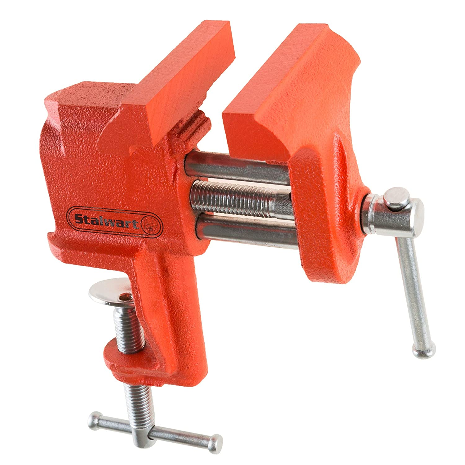 Stalwart Vice Workshop Bench Clamp - Heavy Duty Bolt Down Locking Swivel Base with Anvil for Auto Repair, Woodworking, Pipe Work, Gunsmith Trademark Global 75-ST6023