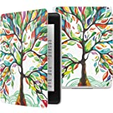 MoKo Case Fits Kindle Paperwhite (10th Generation, 2018 Releases), Thinnest Lightest Smart Shell Cover with Auto Wake/Sleep for Amazon Kindle Paperwhite 2018 E-Reader - Lucky Tree