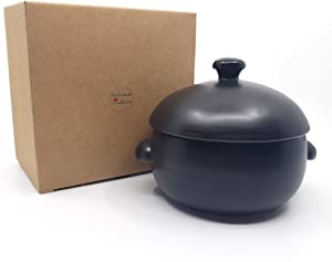 Korean Traditional Ceramic Rice Cooker with Lid, Earthenware Rice Cooker, Japanese Style Donabe Rice Cooker, Single Serve