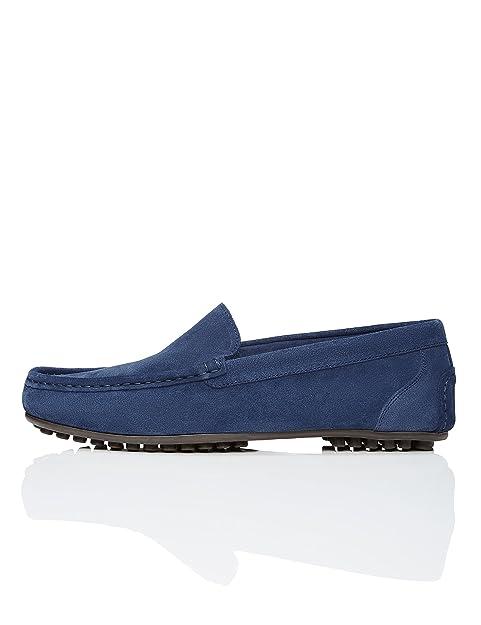 FIND Mocasines de Ante con Suela de Goma Hombre: Amazon.es: Zapatos y complementos