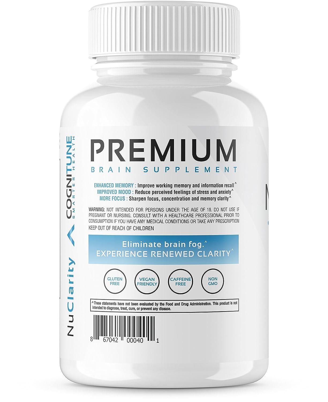 NuClarity - Premium Natural Nootropic Brain Supplement - #1 Focus, Energy,  Memory Booster - Mental