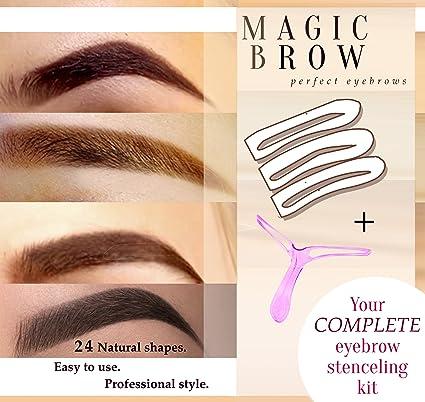 Amazon.com: Eyebrow stencil and aligner Eyebrow Stencils Eyebrows ...