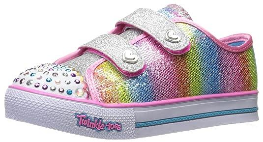 Amazon.com | Skechers Kids Kids Step up-Sparkle Kicks Sneaker | Sneakers
