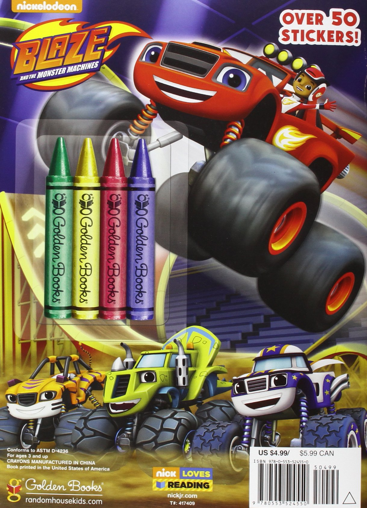Blaze And The Monster Machines 9780553524550 Golden Books