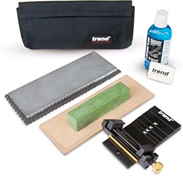 Trend DWS/KIT/B Diamond Whetstone Honing and Polishing Kit for Sharpening Router Bits and Chisels
