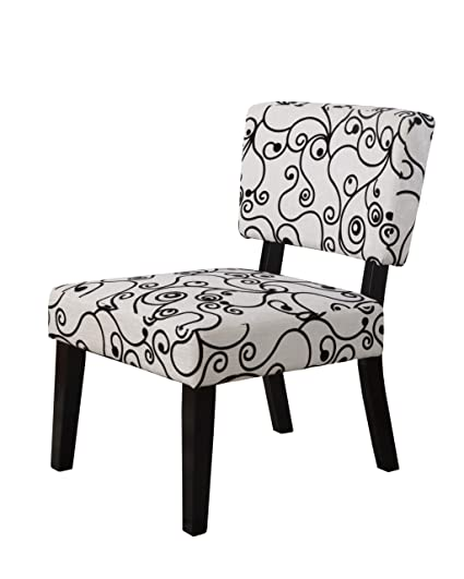 Linon home decor taylor accent chair white black circles