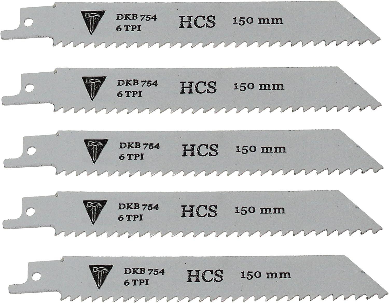 5 HCS Sägeblatt für Tigersäge Säbelsäge Säbelsägeblätter für Grünholz Holz 47