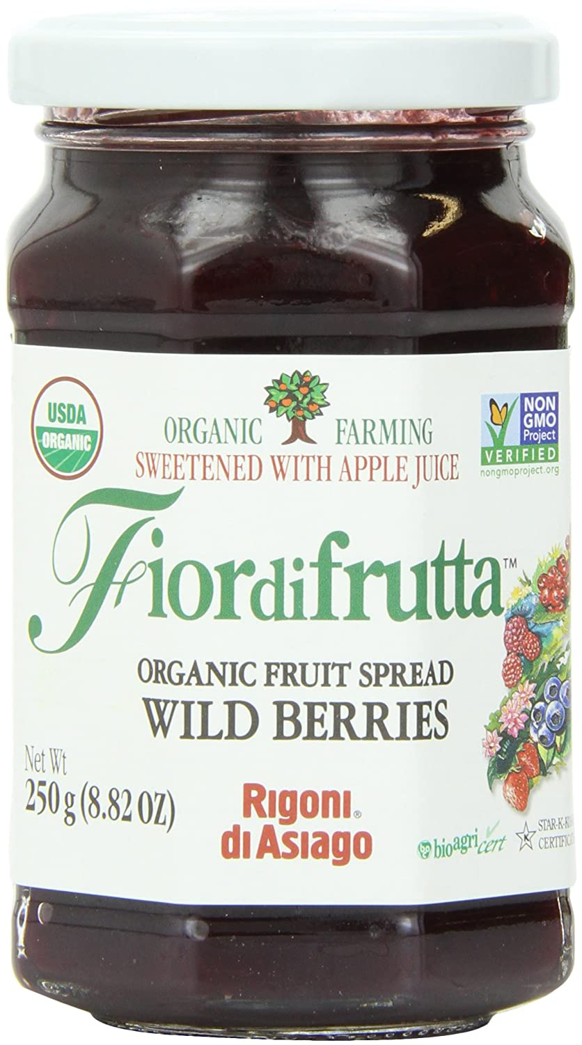 Rigoni Di Asiago Fiordifrutta Organic Fruit Spread, Wildberries, 8.82 Ounce