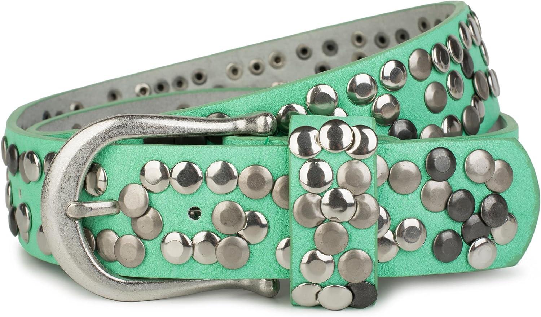styleBREAKER cinturón de remaches en estilo vintage, reducible 03010008