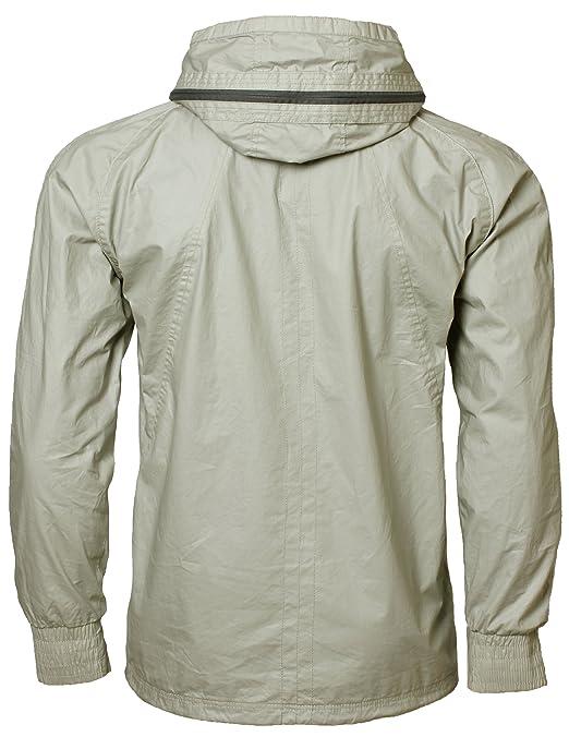 fa51d8363a3c Benzini Herren Leichte Jacke mit Kapuze Baumwolle Stone Gr. L  Amazon.de   Bekleidung