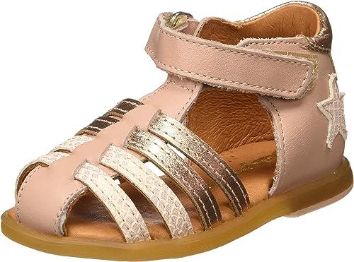 Sandales cuir bébé fille Twix Babybotte® rose nude Babybotte