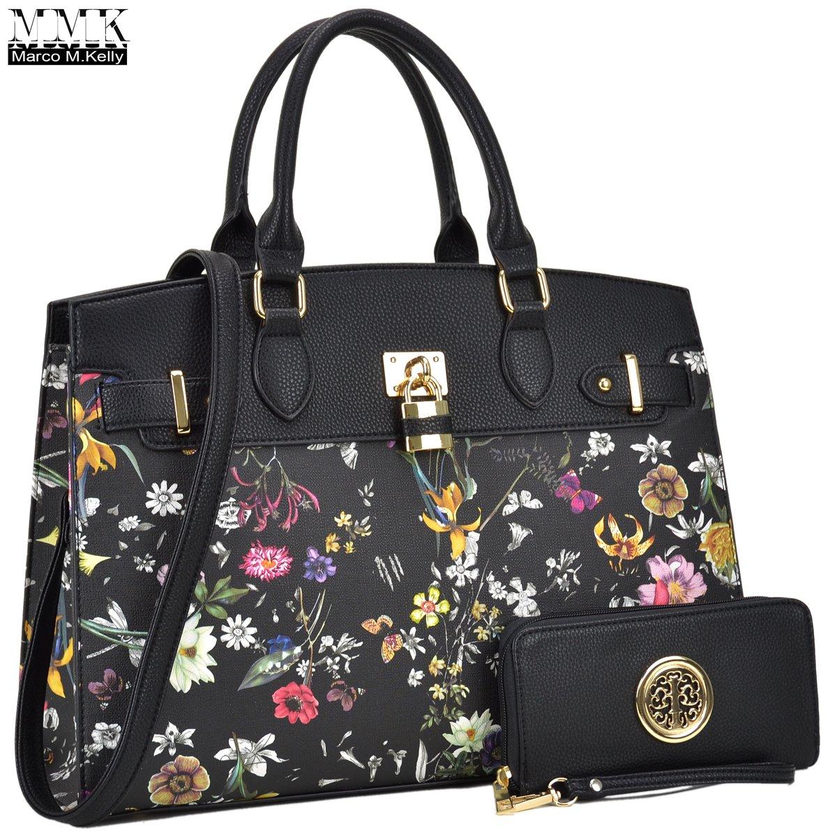 MMK collection Fashion Women Purses and Handbags Ladies Designer Satchel Handbag Tote Bag Shoulder Bags with coin purse (Z-6876-BLF)