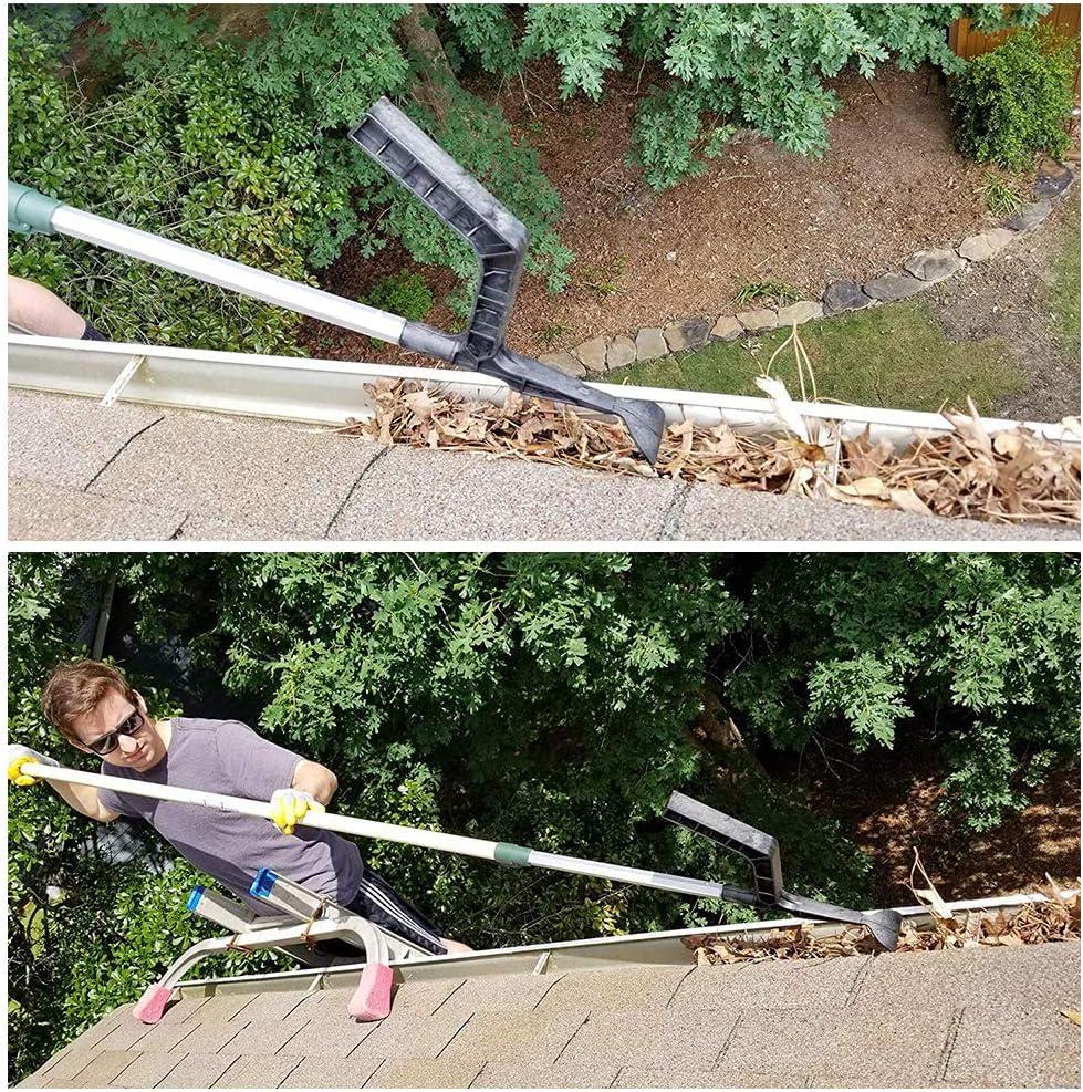 strumento per la pulizia delle grondaie per pulire le grondaie lucernari il cucchiaio e la paletta per villas Townhouses tetto spiovente Doolland