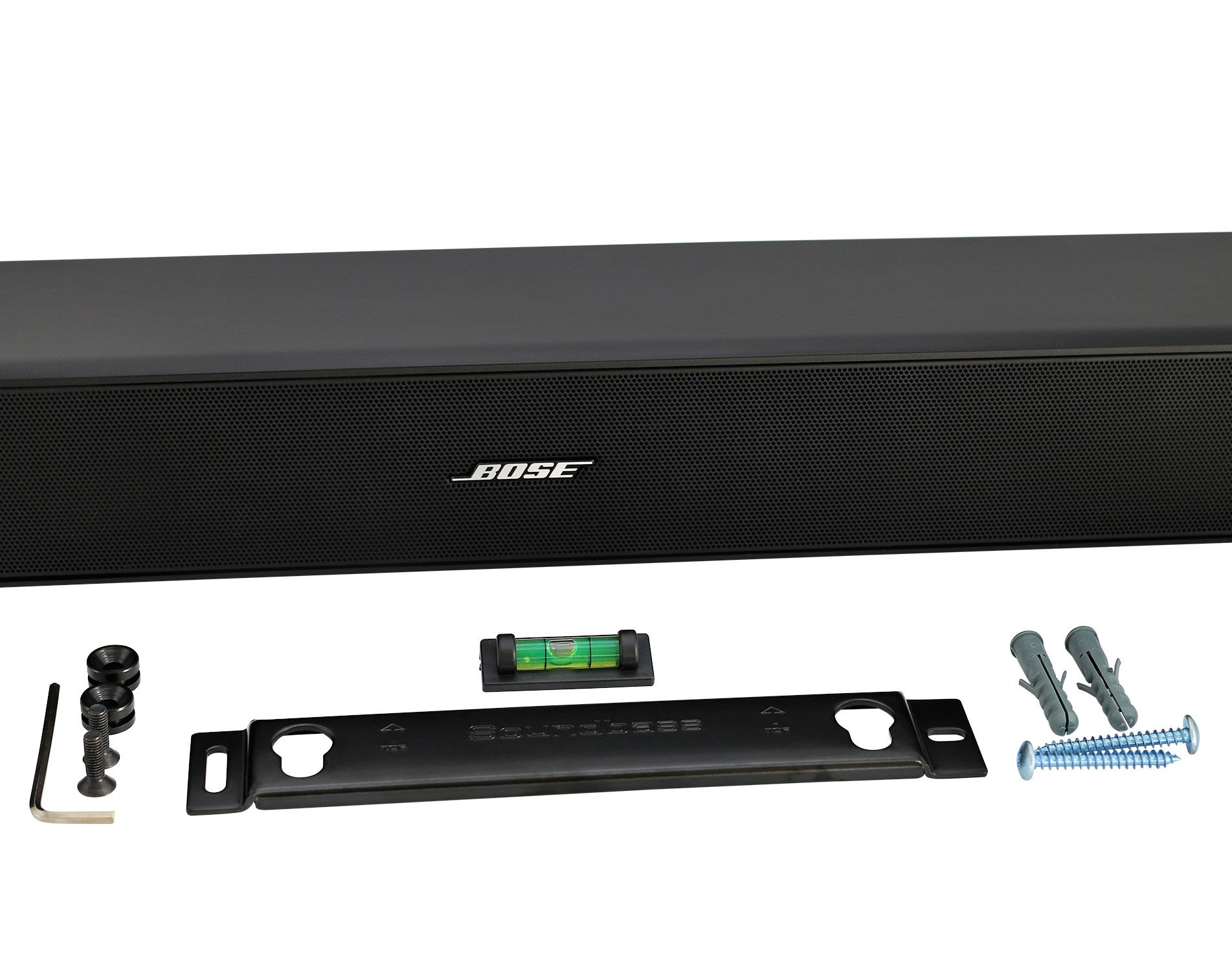 universal soundbar wall mount kit with mounting accessories for bose cinemate ebay. Black Bedroom Furniture Sets. Home Design Ideas