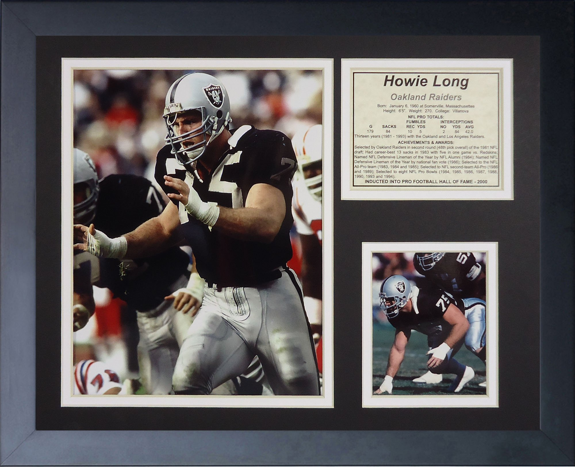 Legends Never Die ''Howie Long Home Framed Photo Collage, 11 x 14-Inch by Legends Never Die