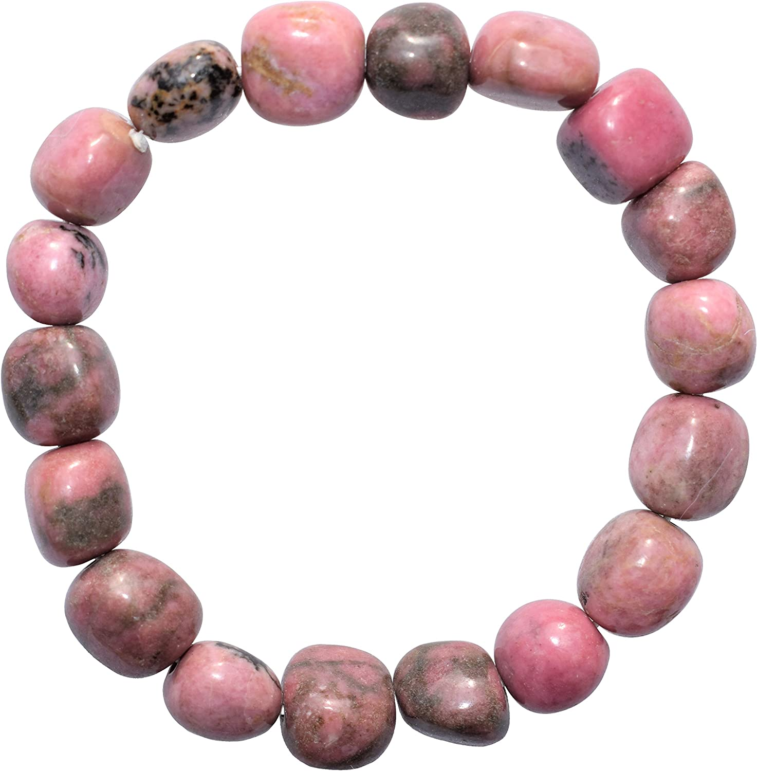 Rhodonite Anklet Earthy Pink Stone Solid Copper Clasp Simple Bead Ankle Bracelet Confidence Relaxation Jewelry Forgiveness Emotional Healing