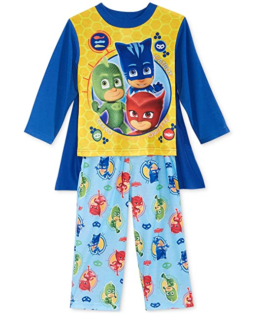 High Quality PJ Masks Boys Pajamas With Cape (2T, Blue/Yellow)