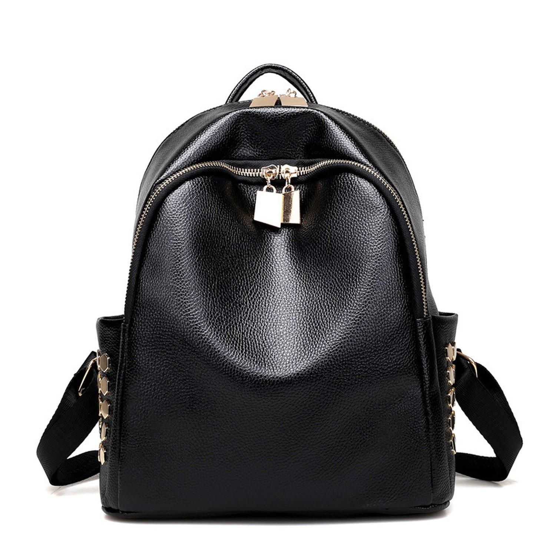 shoulder bag rivets shoulder bag simple multicolor backpack small bag,black by Toping Fine basic-multipurpose-backpacks (Image #1)