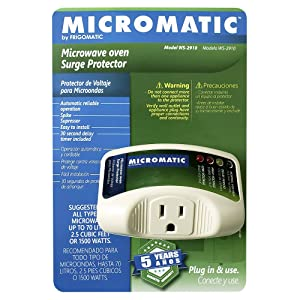 Micromatic WS-2910 Electronic Surge Protector for Microwave Oven