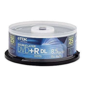 TDK 48973 DVD regrabable - DVD+RW vírgenes (8,5 GB, DVD+R DL, 12 cm, Caja para pastel): Amazon.es: Informática