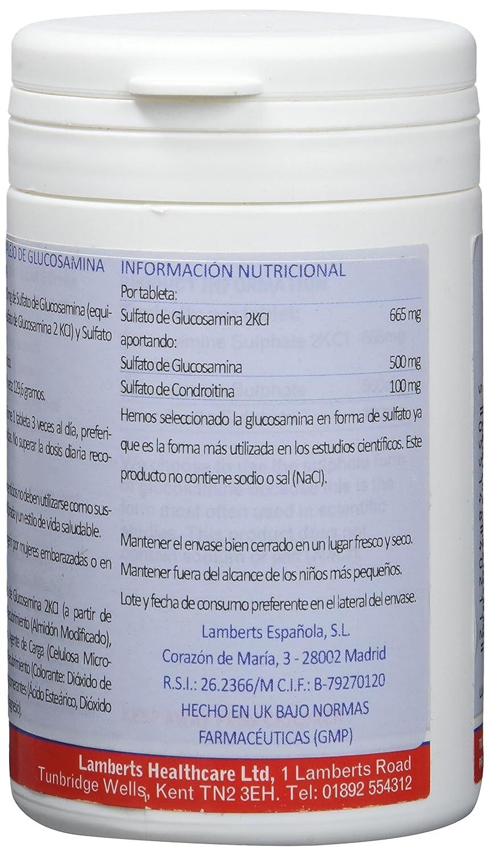 Lamberts Complejo de glucosamina y condroitina - 120 tabletas: Amazon.es: Salud y cuidado personal