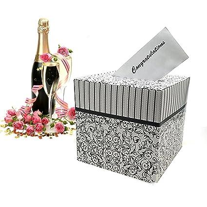 Amazon Adorox Black White Wedding Card Money Gift Box