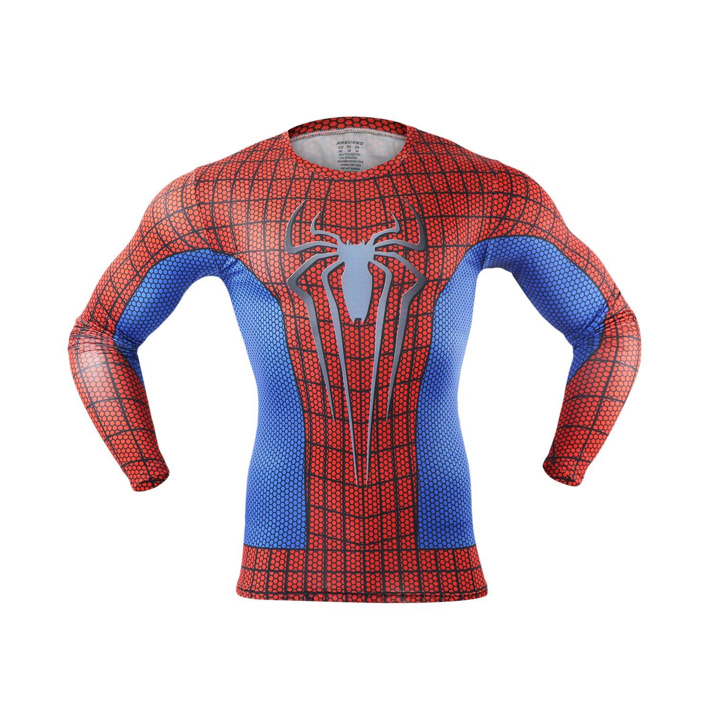 M.Baxter Camiseta de compresión de running para hombre ...