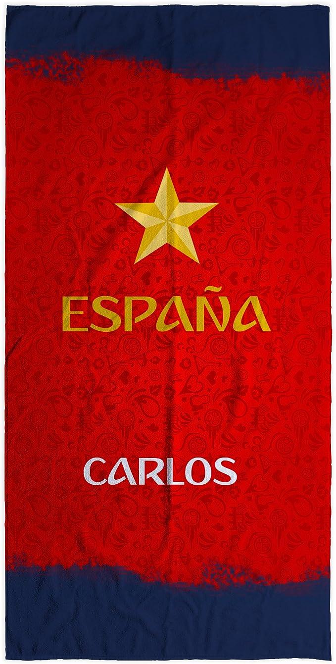 LolaPix Toalla Selección Española Personalizada algodón ESPAÑA ROJA. Varios tamaños: Amazon.es: Hogar