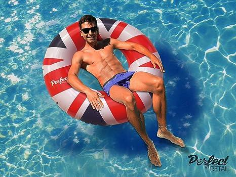 Perfect Pools Bandera del Reino Unido Anillo de Goma   Flotador de ...