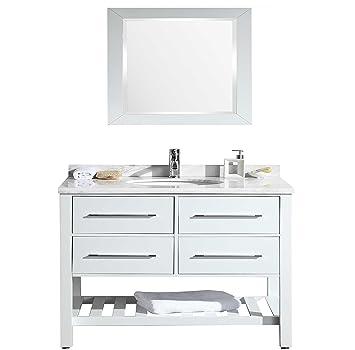 Eviva Evvn503 42wh Natalie F Bathroom Vanity With Carrera Marble