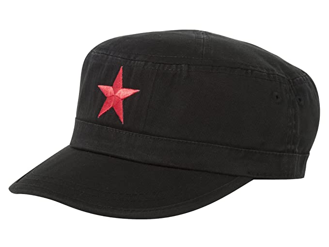 New Mao Army Cadet Adjustable Hat W China Red Star - Black at Amazon ... e807f2c17b98